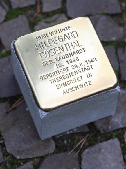 Neuer Stolperstein in Dahlem für Hildegard Rosenthal