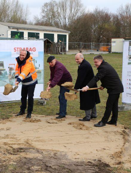 """Teltow & Stahnsdorf: Baubeginn an der """"Biomalzspange"""" mit feierlichem 1. Spatenstich"""