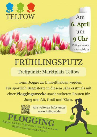 """Teltower Frühlingsputz erstmals mit """"Ploggingstrecke"""""""