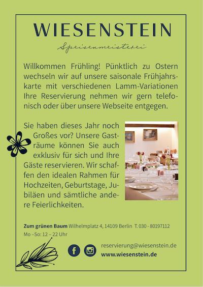 Besuchen Sie jetzt http://www.wiesenstein.de