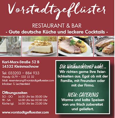 Besuchen Sie jetzt http://www.vorstadtgefluester.com