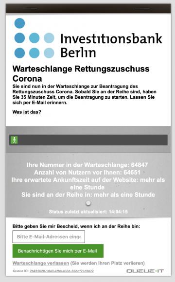 Anträge Soforthilfe II – Schutzschirm für Berliner Wirtschaft und Arbeitsplätze ab heute möglich