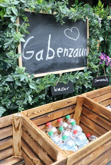 Upgrade für den Gabenzaun an der Schloßstraße!