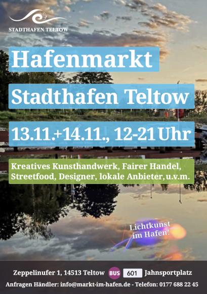 Auftakt der Hafenmärkte im Stadthafen Teltow