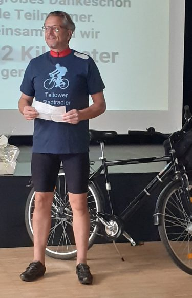 Teltower Stadtradler verteidigt seinen Titel: STADTRADELN 2021: Günter Pätz hat erneut die meisten Kilometer gesammelt